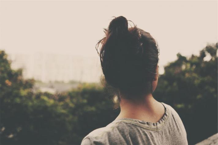 girl with bun in hair
