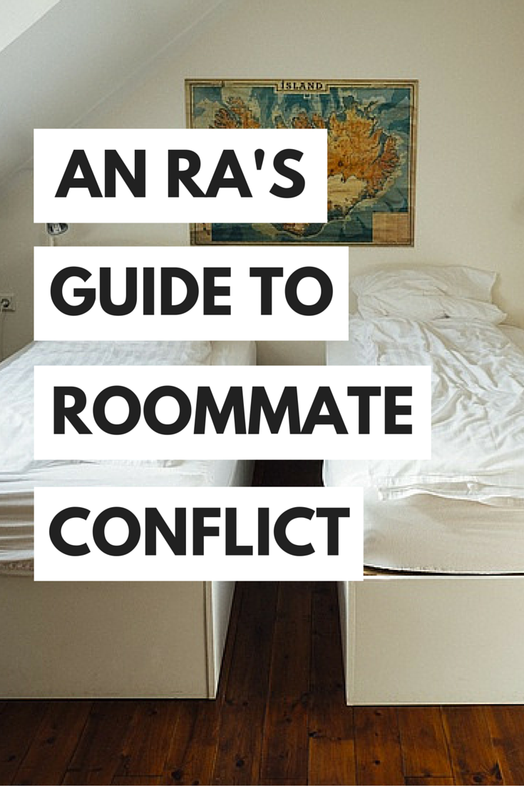 roommate_newTips from a college RA about how to deal with college roommate conflicts and difficult roommates without going crazy!
