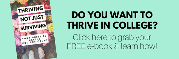 Want to learn how to thrive in college- Grab the FREE e-book!