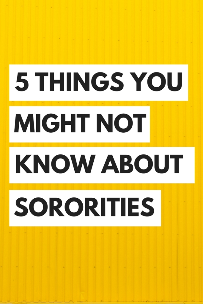 Common misconceptions about sororities!