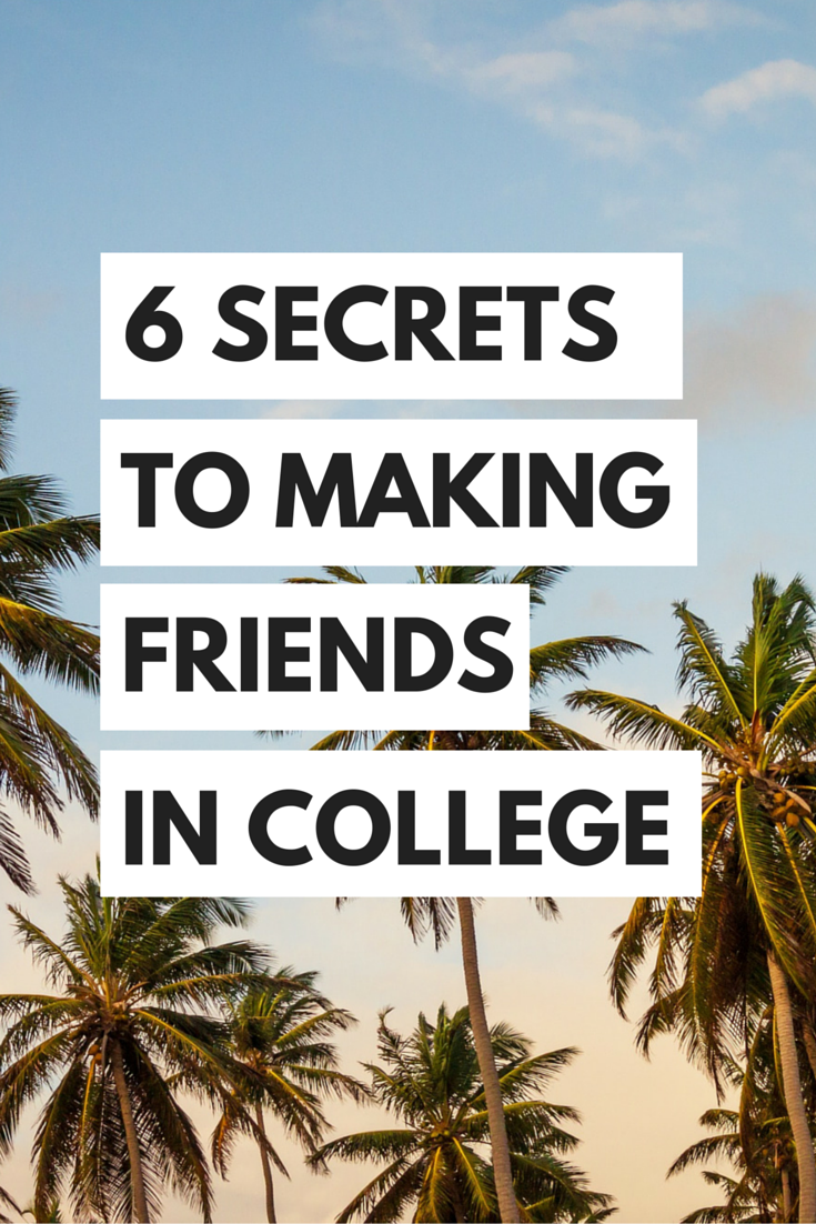 How do you meet friends in college