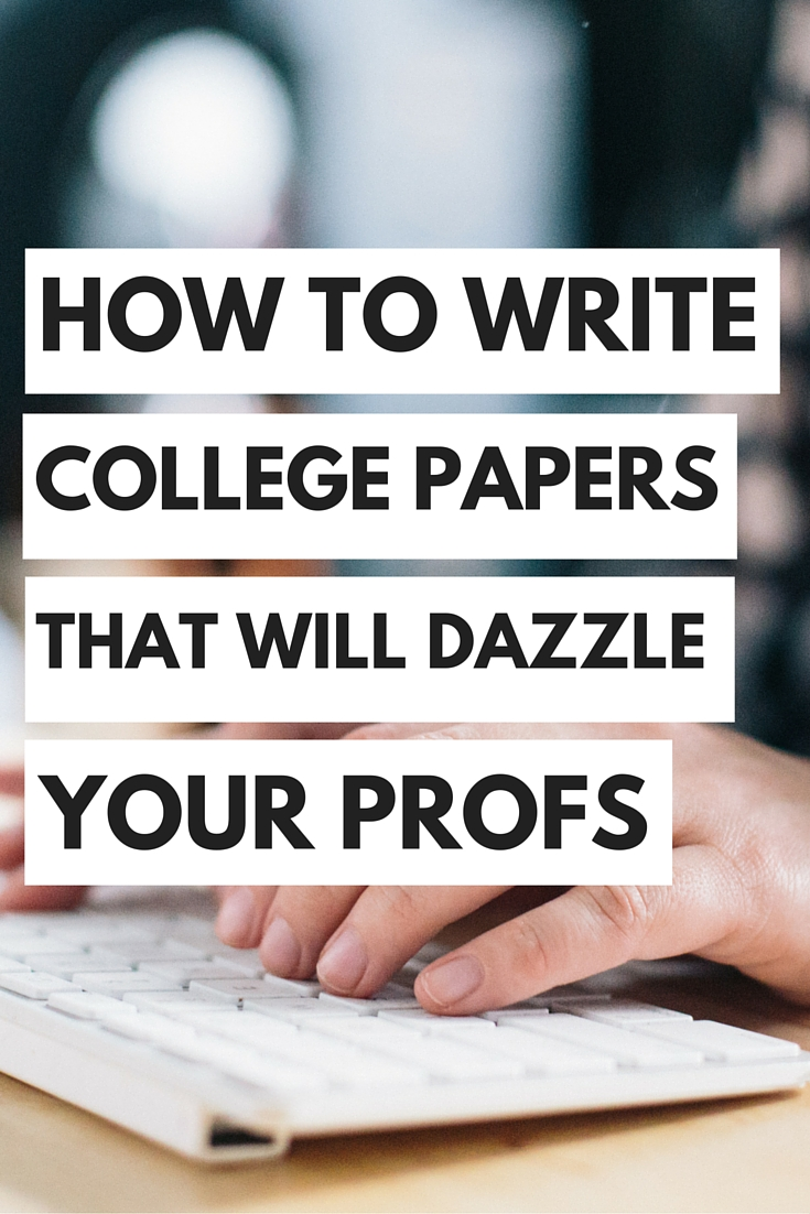Writing papers for college students