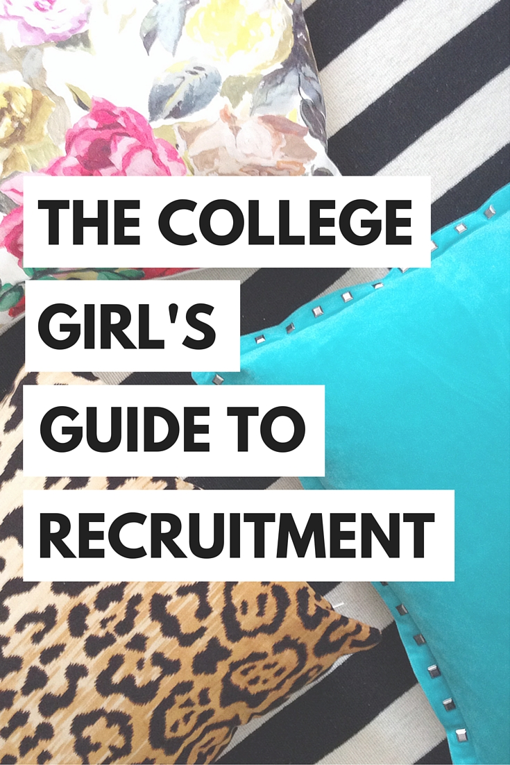 Nervous to head back to school for formal recruitment? Here are some tips and tricks to help you through rush week!