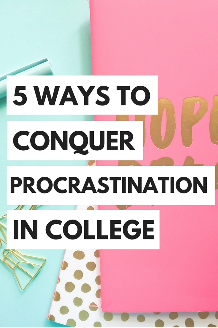 Learn to beat your procrastination habit and stay on top of your work in college!