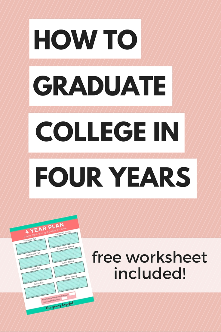 Here's everything you need to know if you want to graduate college in four years!